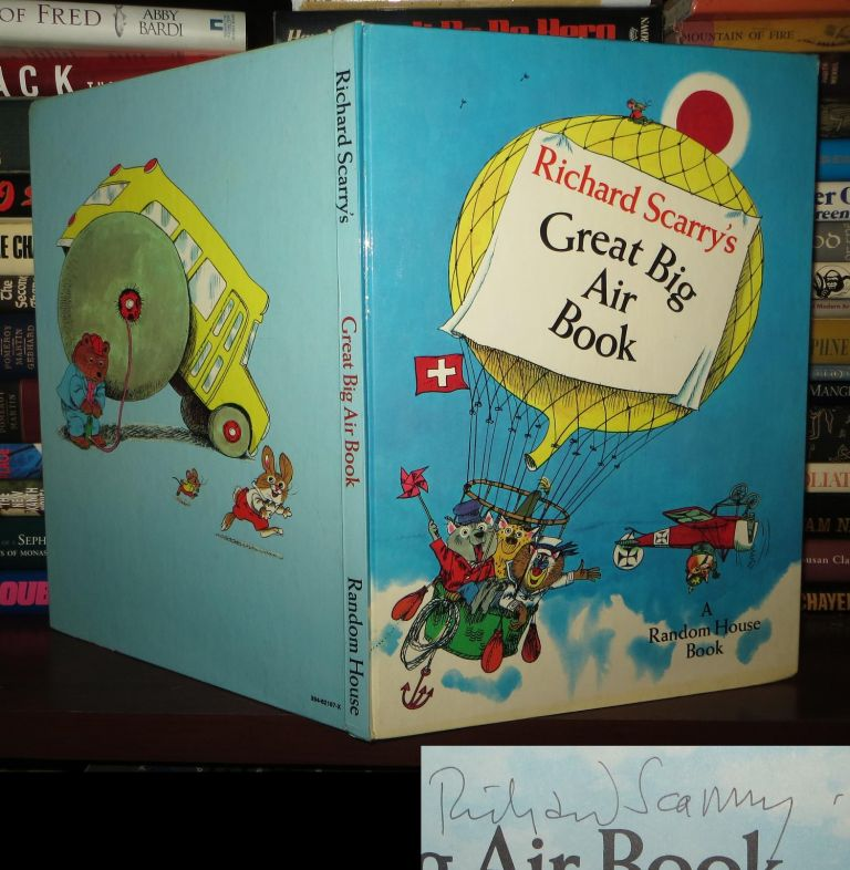 RICHARD SCARRY'S GREAT BIG AIR BOOK Signed 1st. Richard Scarry.