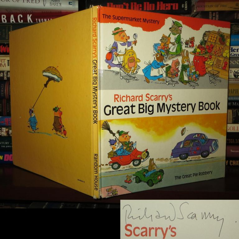 RICHARD SCARRY'S GREAT BIG MYSTERY BOOK Signed 1st. Richard Scarry.