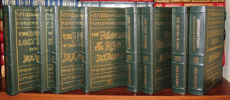 THE HOBBIT, THE FELLOWSHIP OF THE RING, THE TWO TOWERS, THE RETURN OF THE KING, THE SILMARILLION, THE BOOK OF LOST TALES VOLUME 1 AND 2 AND THE UNFINISHED TALES Easton Press. J. R. R. Tolkien.