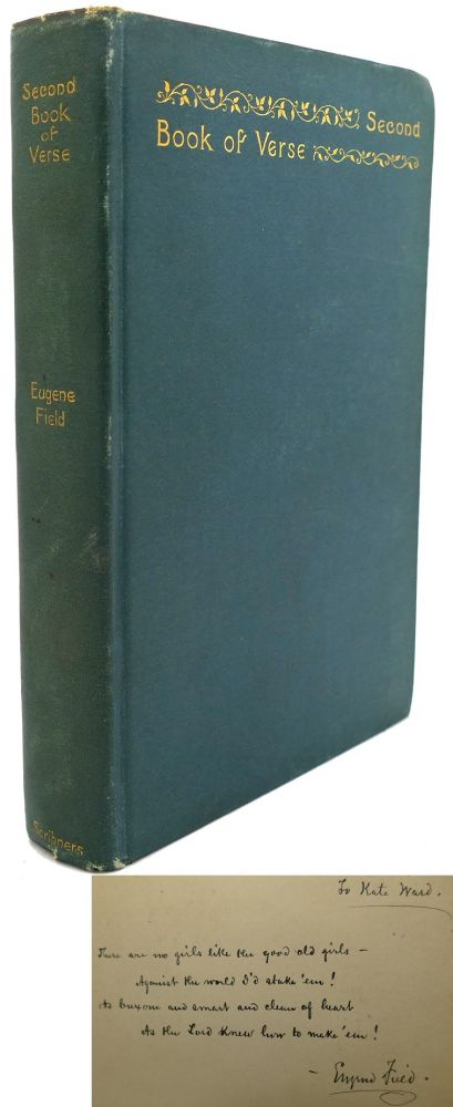 SECOND BOOK OF VERSE Signed 1st. Eugene Field.