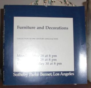 FURNITURE AND DECORATIONS. Jane Fonda One Of The Owners Sotheby Parke Bernet Inc