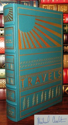TRAVELS Signed 1st Franklin Library. Michael Crichton