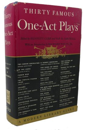 THIRTY FAMOUS ONE - ACT PLAYS. Bennett Cerf