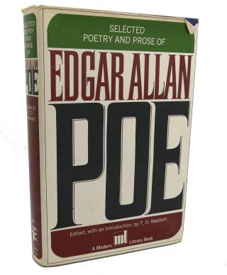 THE SELECTED POETRY AND PROSE OF EDGAR ALLEN POE. T. O. Mabbott Edgar Allan Poe