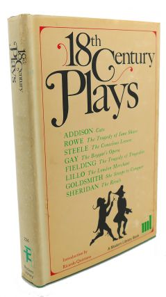 18TH CENTURY PLAYS. Rowe Addison, Sheridan, Goldsmith, Lillo, Fielding, Gay, Steele