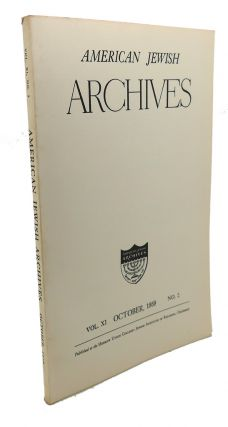 AMERICAN JEWISH ARCHIVES, VOL. XI, APRIL,1959, NO.2