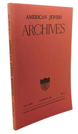 AMERICAN JEWISH ARCHIVES, VOL. XVIII, APRIL,1966, NO.2