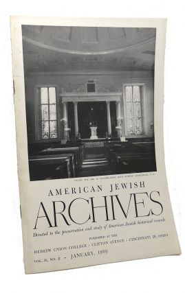AMERICAN JEWISH ARCHIVES, VOL. II, JANUARY,1950, NO.2
