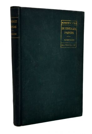 THE ACADEMY SERIES OF ENGLISH CLASSICS ADDISON DE COVERLY PAPERS