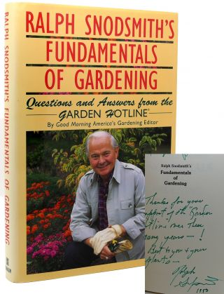 RALPH SNODSMITH'S FUNDAMENTALS OF GARDENING Signed 1st Questions and Answers...