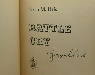BATTLE CRY Signed 1st