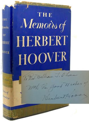 THE MEMOIRS OF HERBERT HOOVER Signed 1st