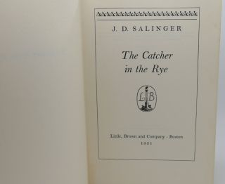 THE CATCHER IN THE RYE 1st Edition