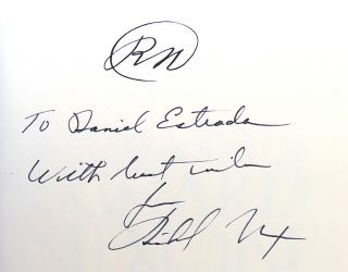THE MEMOIRS OF RICHARD NIXON Signed 1st