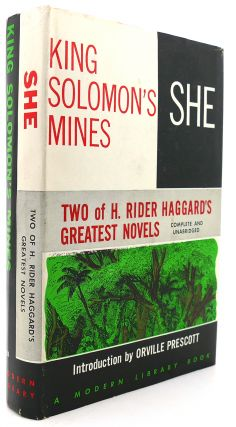KING SOLOMON'S MINES / SHE Modern Library #163. H. Rider Haggard