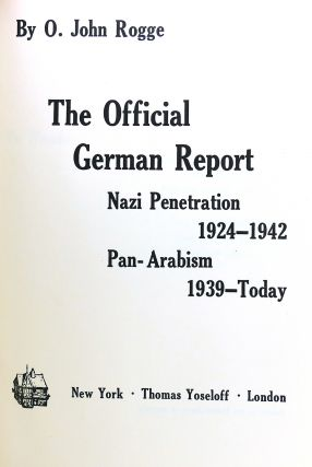 THE OFFICIAL GERMAN REPORT