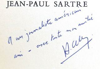 THE QUESTION Signed by Jean-Paul Sartre