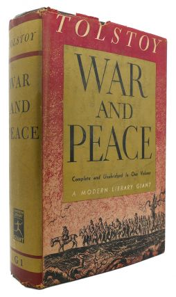 WAR AND PEACE Modern Library # G1. Leo Tolstoy