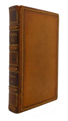 THE WORKS OF THE ENGLISH POETS VOL. 33 With Prefaces, Biographical and Critical. Samuel Johnson