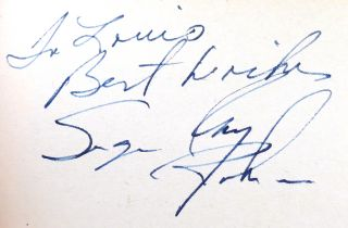 SUGAR RAY ROBINSON WORLD'S GREATEST FIGHTER-POUND FOR POUND Signed by SUGAR RAY