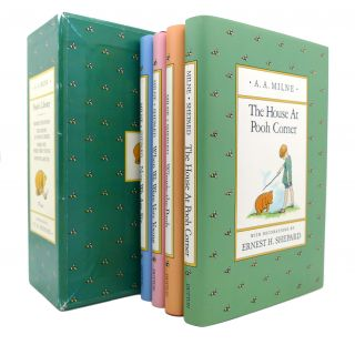 POOH'S LIBRARY WINNIE-THE-POOH, THE HOUSE AT POOH CORNER, WHEN WE WERE VERY YOUNG, NOW WE ARE...