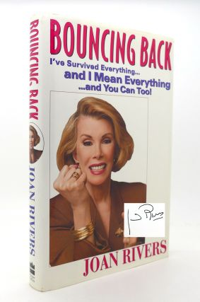 BOUNCING BACK SIGNED 1st I'Ve Survived Everything...And I Mean Everything...And You Can Too! Joan...