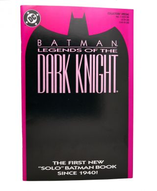 BATMAN: LEGENDS OF THE DARK KNIGHT VOL. 1 NO. 1 NOVEMBER 1989 COLLECTOR'S SPECIAL PINK COVER. Dc...