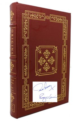 ORIGINS RECONSIDERED Signed Easton Press. Roger Lewin Richard Leakey