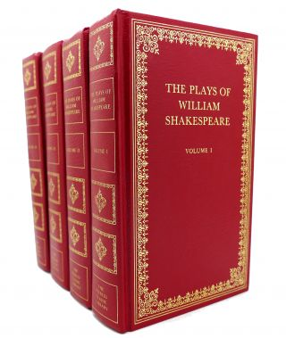 THE PLAYS OF WILLIAM SHAKESPEARE IN 4 VOLUMES