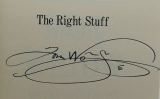 THE RIGHT STUFF Signed 1st