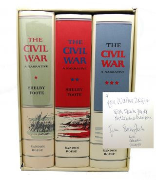 CIVIL WAR A NARRATIVE Signed. Shelby Foote