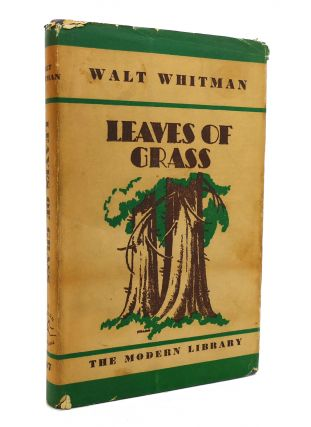 LEAVES OF GRASS Modern Library No 97. Walt Whitman