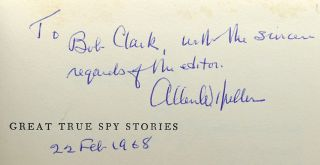GREAT TRUE SPY STORIES Signed 1st