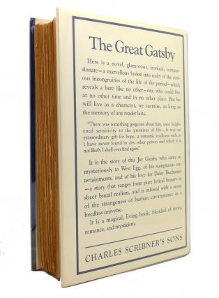 THE GREAT GATSBY 1st Edition 1st Issue