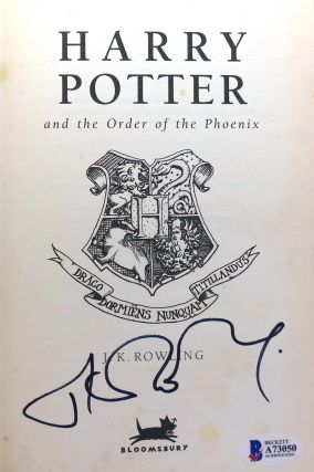 HARRY POTTER AND THE ORDER OF THE PHOENIX Signed 1st UK