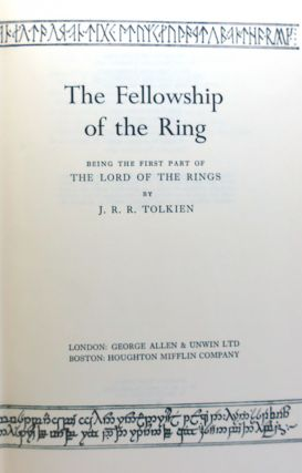 THE LORD OF THE RINGS SET THE FELLOWSHIP OF THE RING, THE TWO TOWERS & THE RETURN OF THE KING