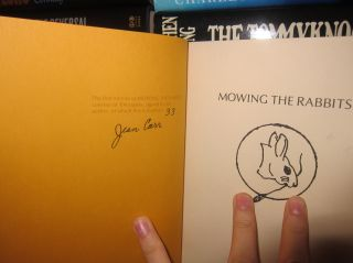 MOWING THE RABBITS Signed 1st