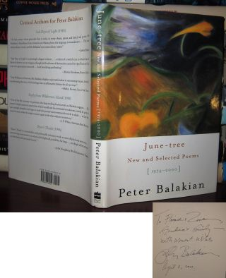 JUNE-TREE Signed 1st. Peter Balakian