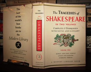 THE TRAGEDIES OF SHAKESPEARE Complete & Unabridged with Notes and Glossary; Volume Two. William...