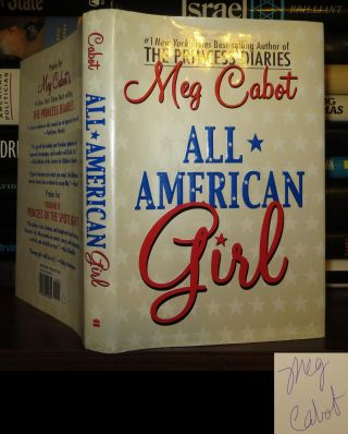 ALL-AMERICAN GIRL Signed 1st. Meg Cabot
