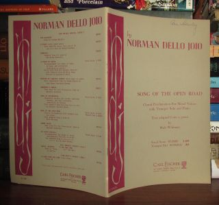 SONG OF THE OPEN ROAD. Norman Dello Joio, Adapted From A. Text Walt Whitman