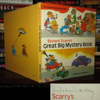 RICHARD SCARRY'S GREAT BIG MYSTERY BOOK Signed 1st