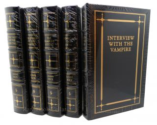 THE VAMPIRE CHRONICLES Signed Easton Press Interview with the Vampire Vampire Lestat Queen of the Damned Tale of the Body Thief Memnoch the Devil