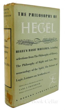THE PHILOSOPHY OF HEGEL. Carl J. Friedrich