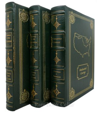LEWIS AND CLARK JOURNALS, UNDAUNTED COURAGE Signed Easton Press. Stephen E. Ambrose