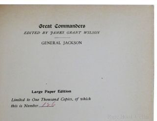 14 VOLUMES OF GREAT COMMANDERS: FARRAGUT, TAYLOR, JACKSON, GREENE, JOHNSTON, SCOTT, WASHINGTON, LEE, HANCOCK, SHERIDAN, GRANT, SHERMAN, AND THOMAS