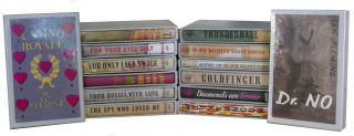 THE JAMES BOND NOVELS - FOURTEEN VOLUME SET FIRST EDITION...