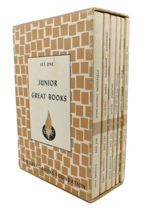 JUNIOR GREAT BOOKS, SET ONE. Browning Andersen, Stevenson, Hawthorne, The Brothers Grimm, Aesop,...